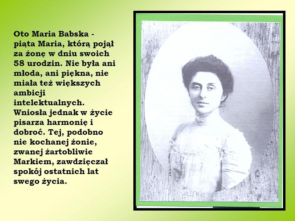 Oto Maria Babska - piąta Maria, którą pojął za żonę w dniu swoich 58 urodzin.