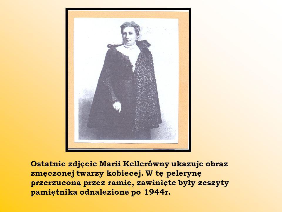 Ostatnie zdjęcie Marii Kellerówny ukazuje obraz zmęczonej twarzy kobiecej.