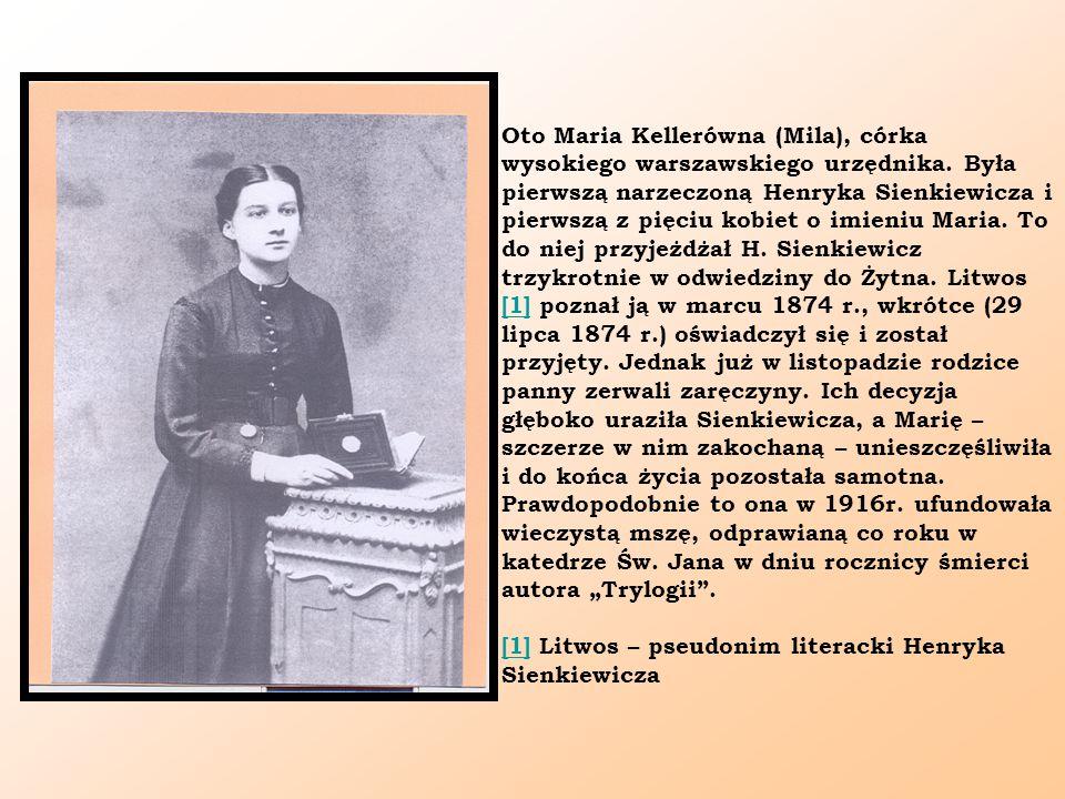 Oto Maria Kellerówna (Mila), córka wysokiego warszawskiego urzędnika