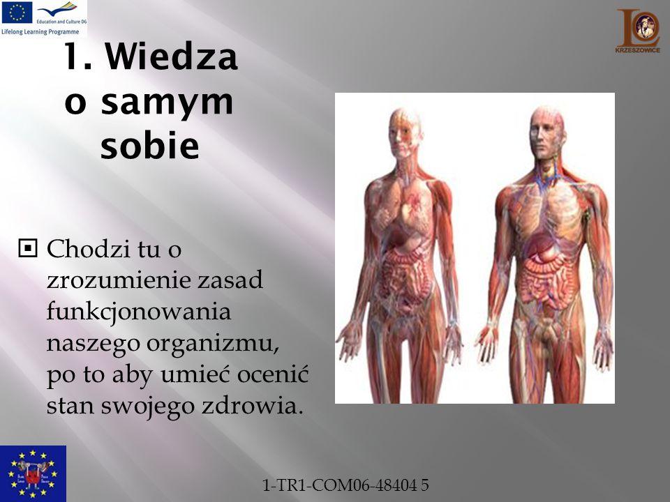 1. Wiedza o samym sobie Chodzi tu o zrozumienie zasad funkcjonowania naszego organizmu, po to aby umieć ocenić stan swojego zdrowia.