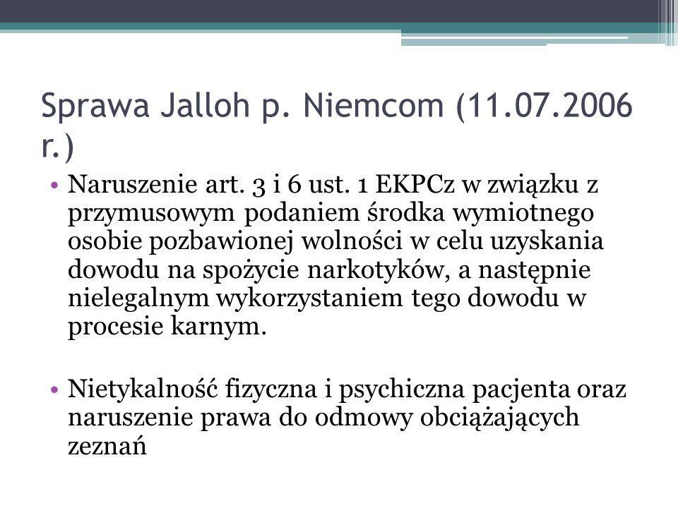 Sprawa Jalloh p. Niemcom (11.07.2006 r.)