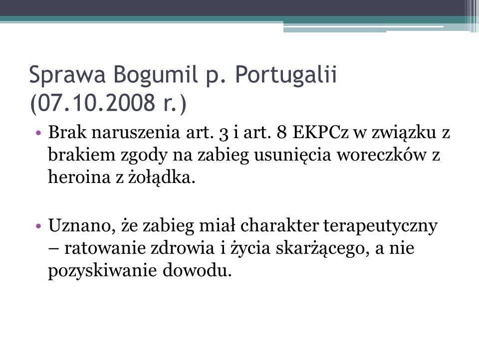 Sprawa Bogumil p. Portugalii (07.10.2008 r.)