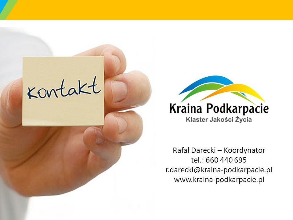Rafał Darecki – Koordynator tel. : 660 440 695 r