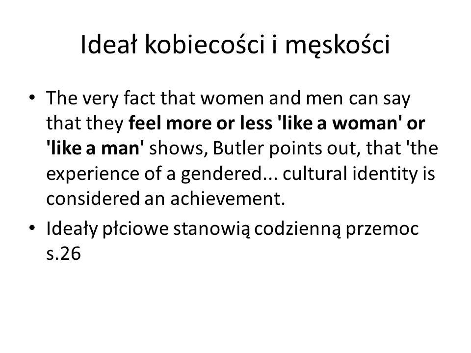 Ideał kobiecości i męskości