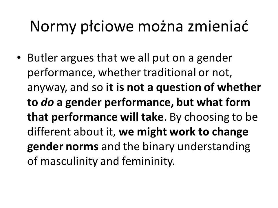 Normy płciowe można zmieniać