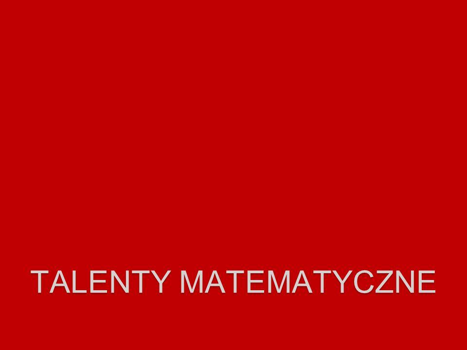 talenty matematyczne