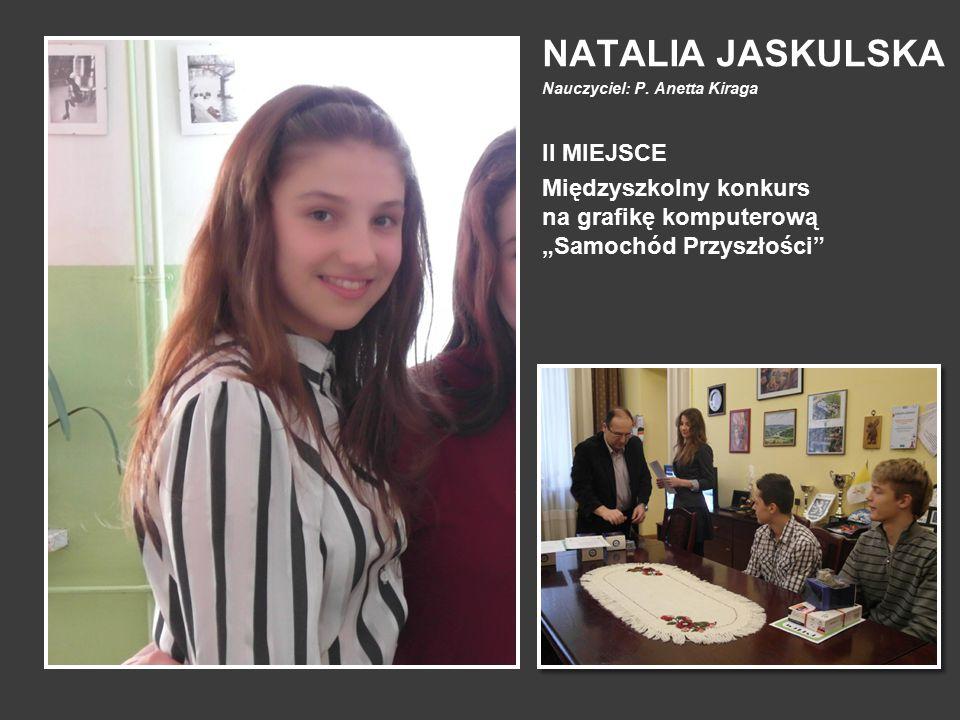 NATALIA JASKULSKA II MIEJSCE