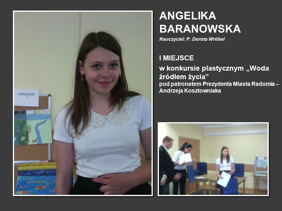ANGELIKA BARANOWSKA I MIEJSCE