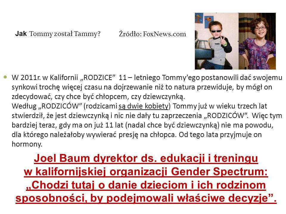 Jak Tommy został Tammy Źródło: FoxNews.com.