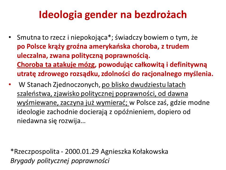 Ideologia gender na bezdrożach