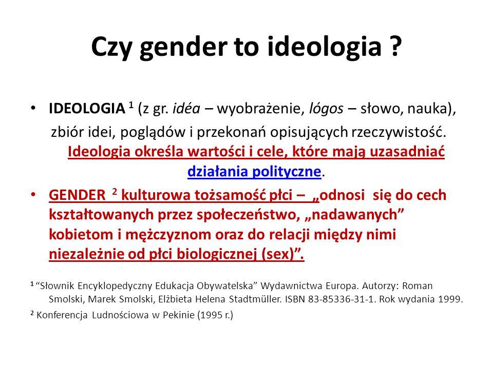 Czy gender to ideologia