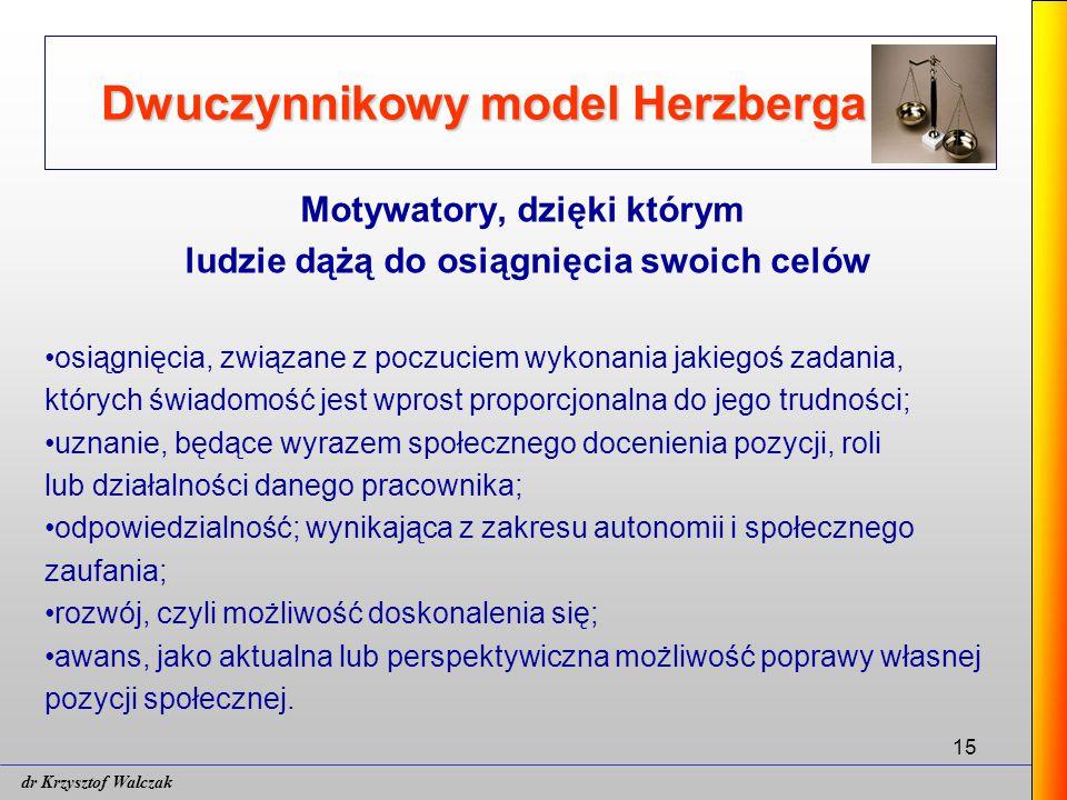 Dwuczynnikowy model Herzberga