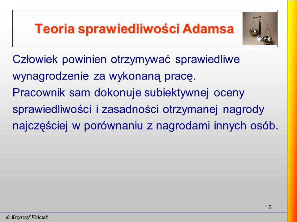 Teoria sprawiedliwości Adamsa
