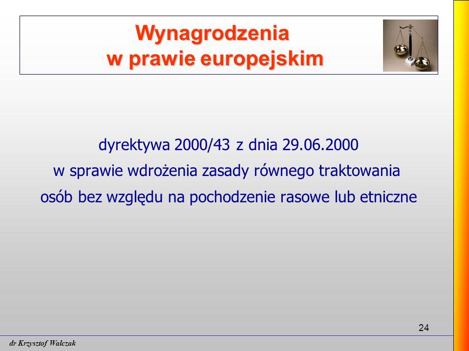 Wynagrodzenia w prawie europejskim