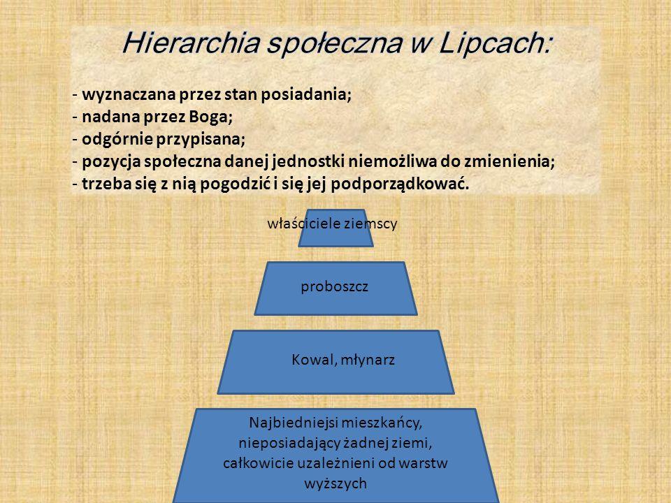 Hierarchia społeczna w Lipcach: