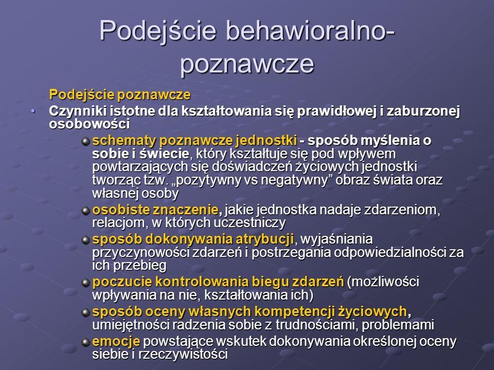 Podejście behawioralno-poznawcze