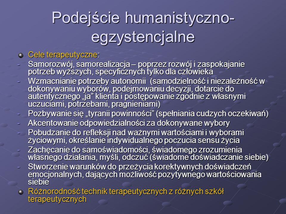 Podejście humanistyczno-egzystencjalne