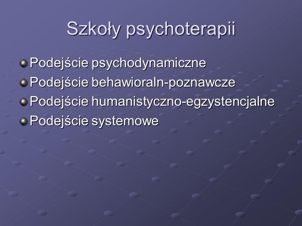 Szkoły psychoterapii Podejście psychodynamiczne