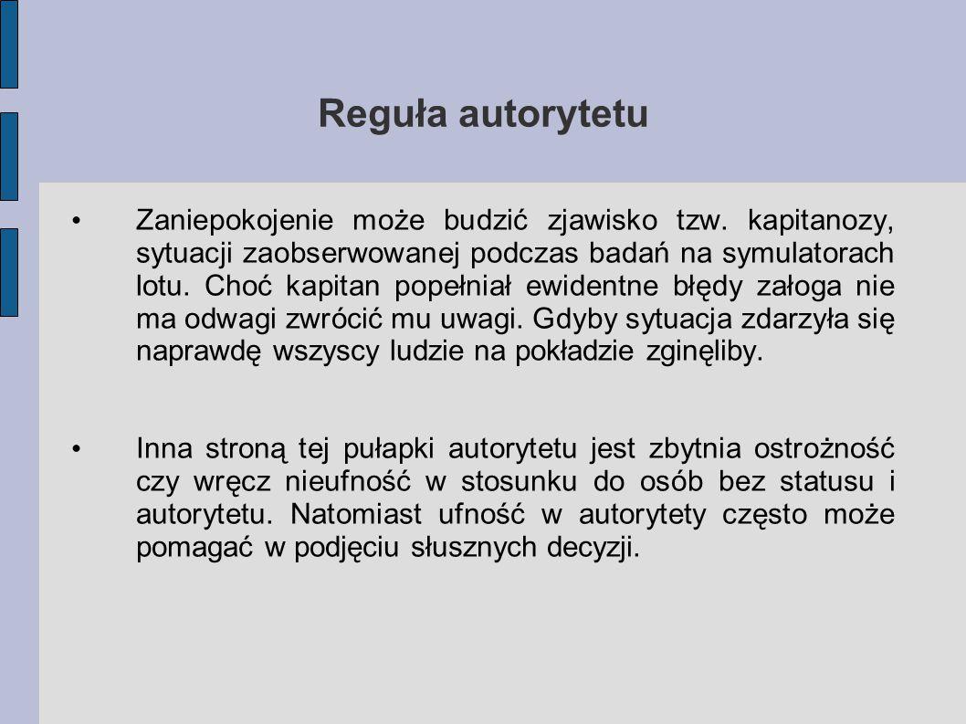 Reguła autorytetu