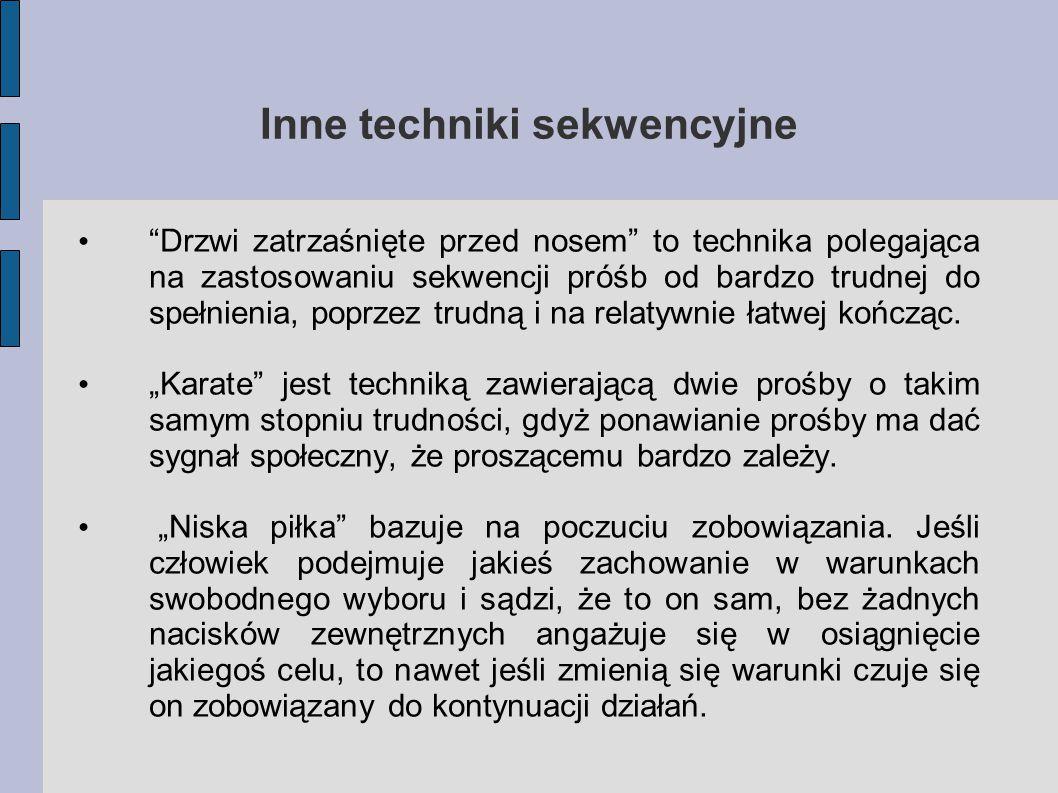 Inne techniki sekwencyjne