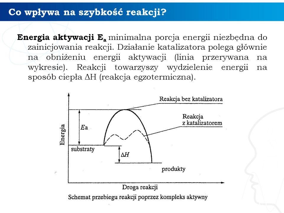Co wpływa na szybkość reakcji