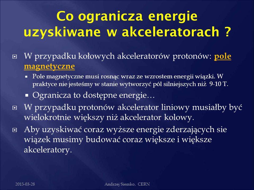 Co ogranicza energie uzyskiwane w akceleratorach