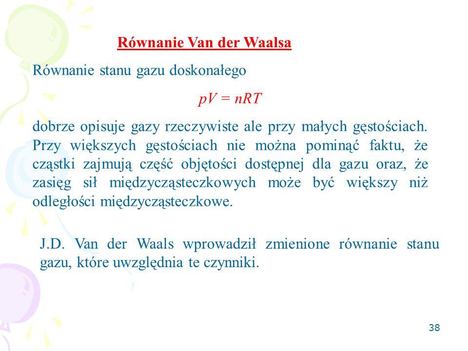 Równanie Van der Waalsa