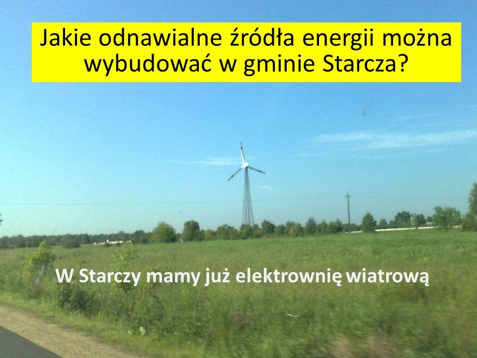 Jakie odnawialne źródła energii można wybudować w gminie Starcza