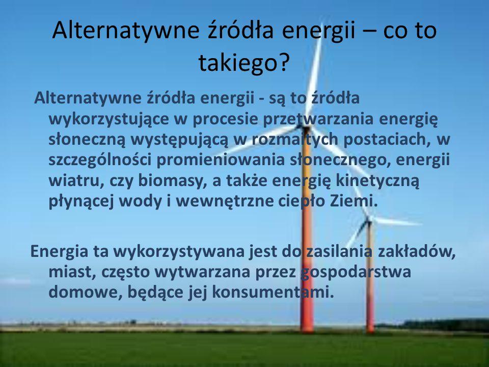 Alternatywne źródła energii – co to takiego