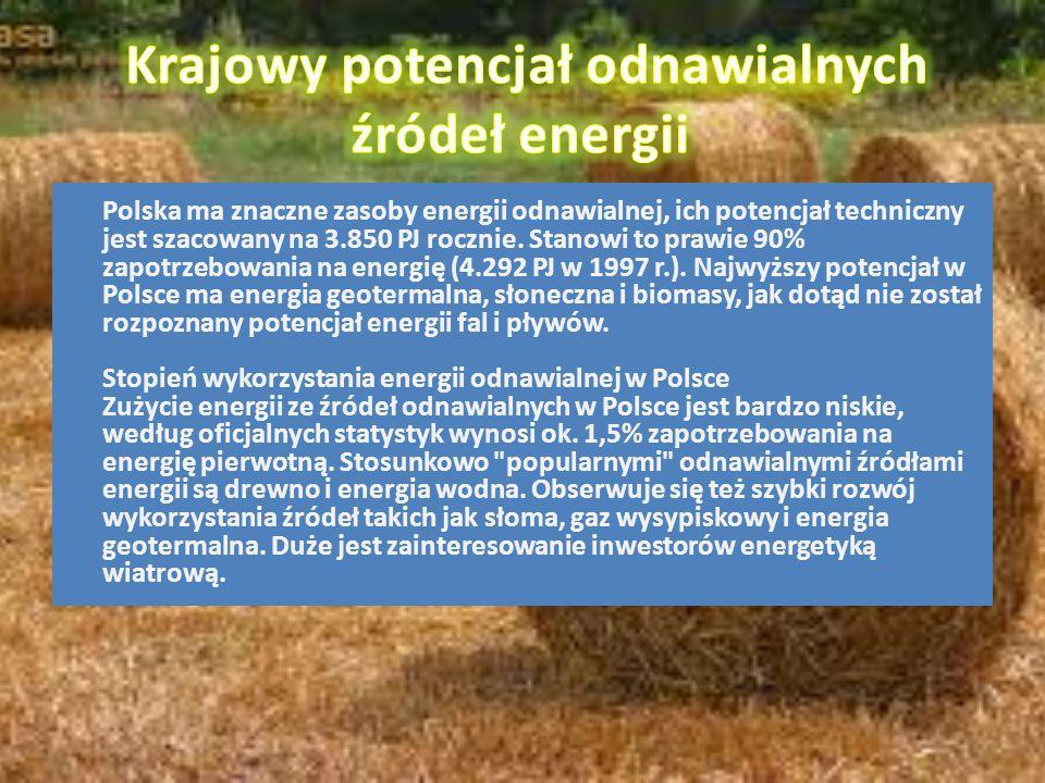Krajowy potencjał odnawialnych źródeł energii