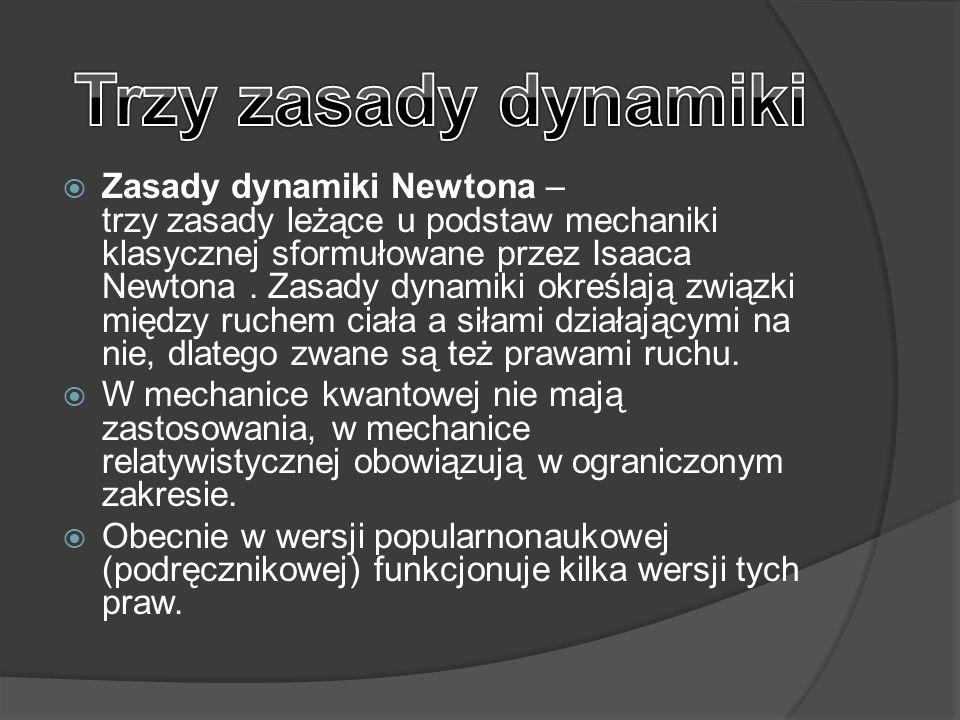 Trzy zasady dynamiki