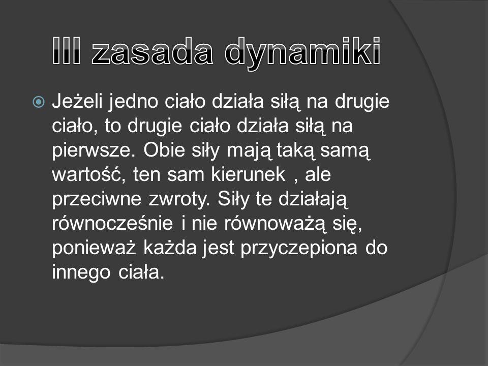 III zasada dynamiki