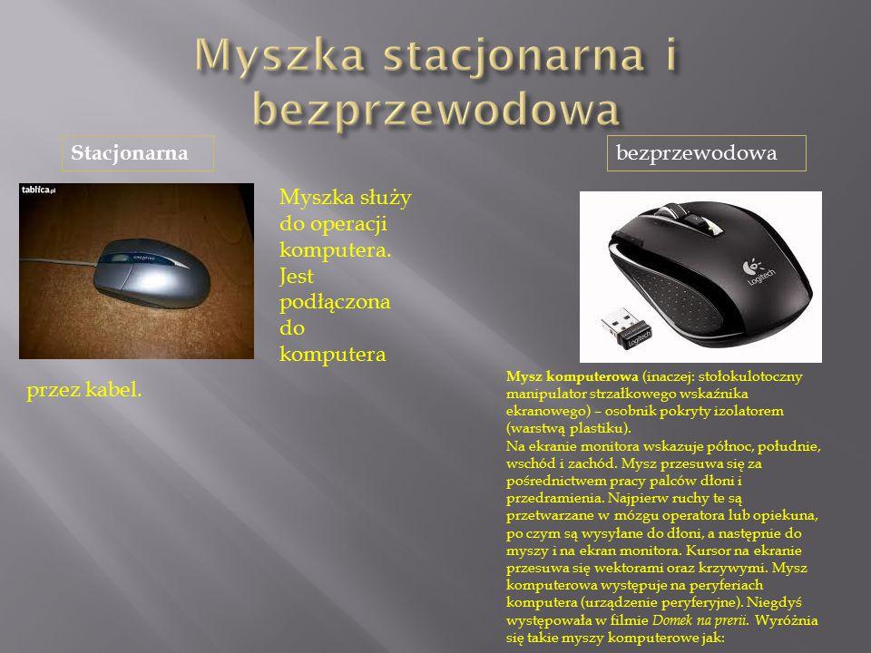 Myszka stacjonarna i bezprzewodowa