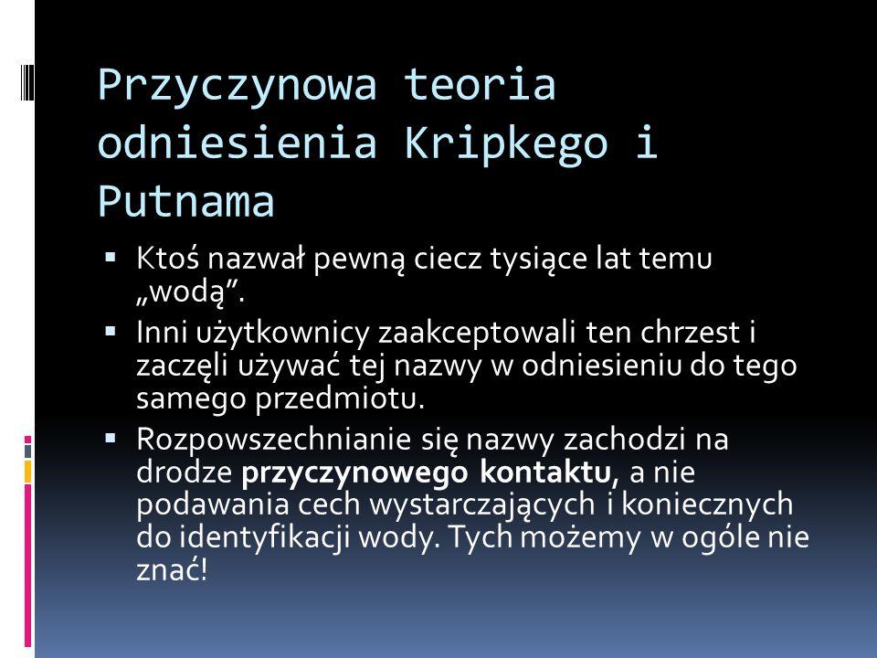 Przyczynowa teoria odniesienia Kripkego i Putnama