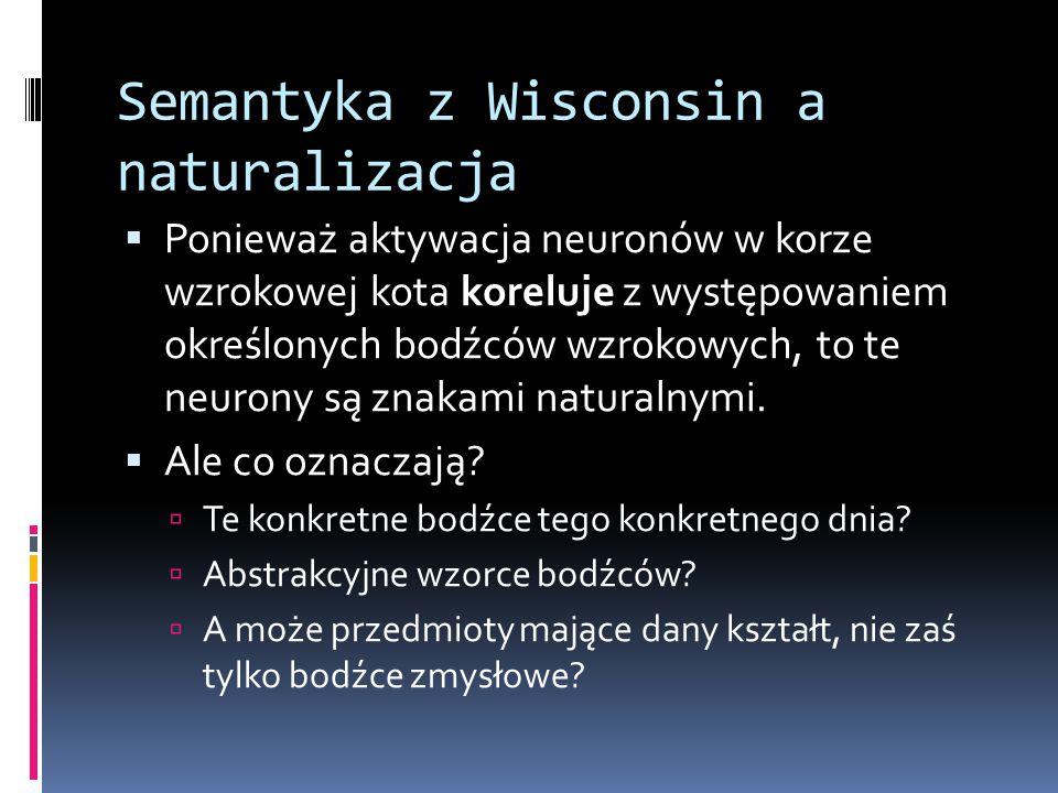 Semantyka z Wisconsin a naturalizacja