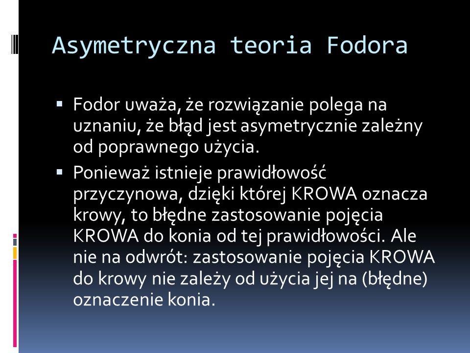 Asymetryczna teoria Fodora