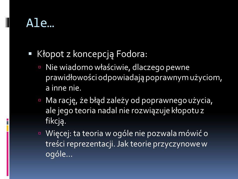 Ale… Kłopot z koncepcją Fodora:
