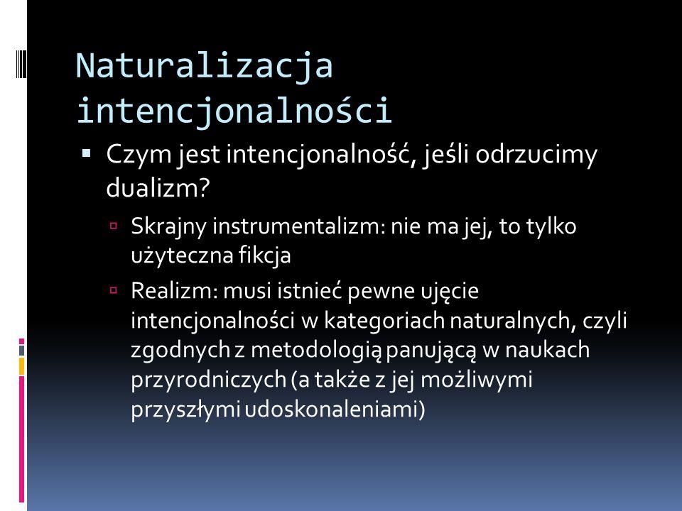 Naturalizacja intencjonalności