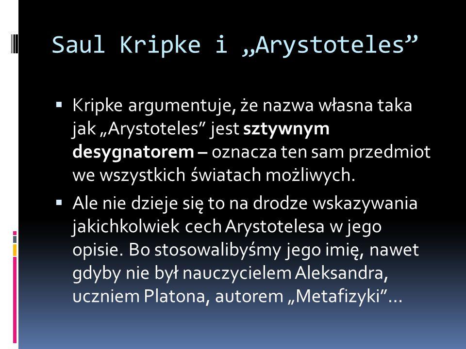 "Saul Kripke i ""Arystoteles"