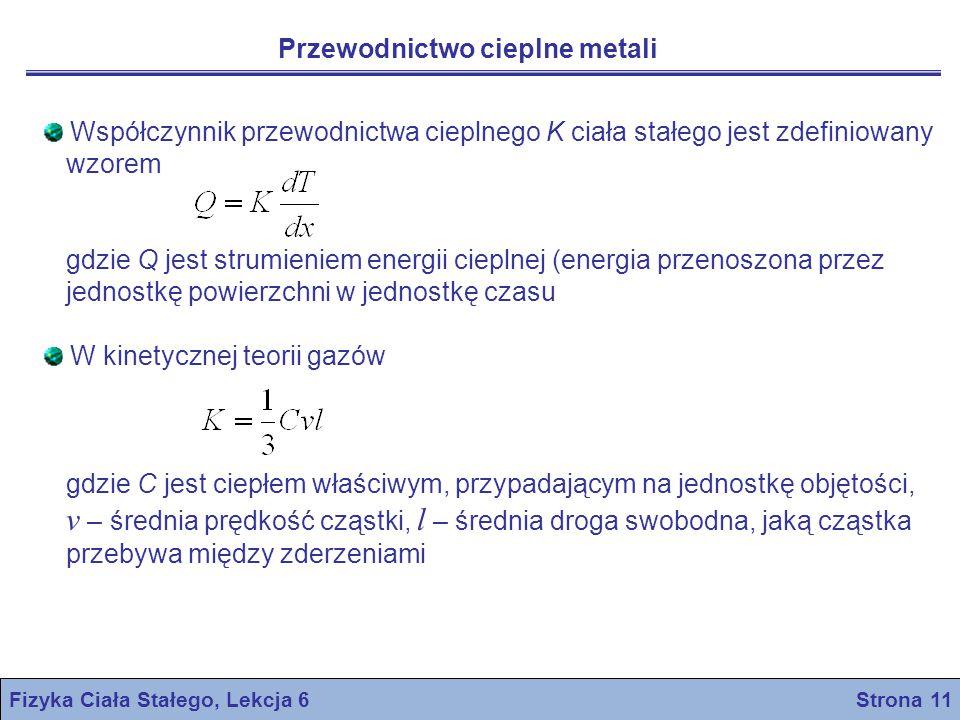Fizyka Ciała Stałego, Lekcja 6 Strona 11