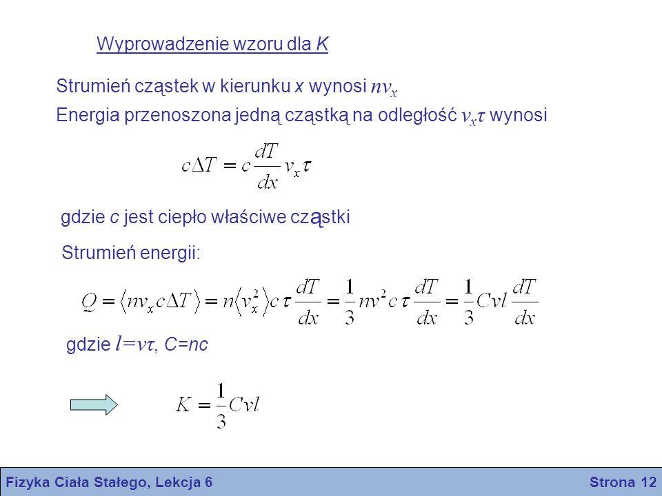 Fizyka Ciała Stałego, Lekcja 6 Strona 12