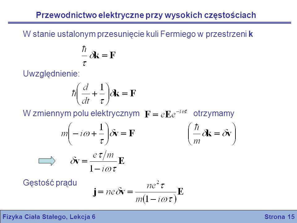 Fizyka Ciała Stałego, Lekcja 6 Strona 15