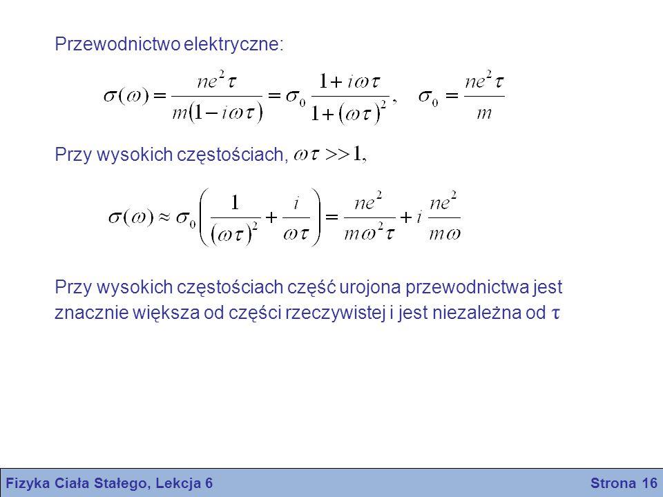 Fizyka Ciała Stałego, Lekcja 6 Strona 16