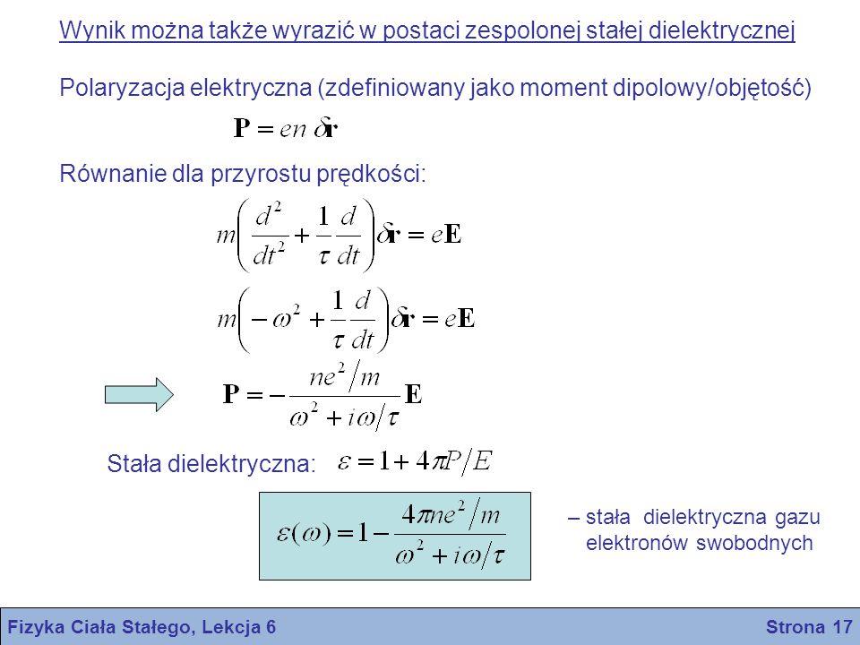 Fizyka Ciała Stałego, Lekcja 6 Strona 17