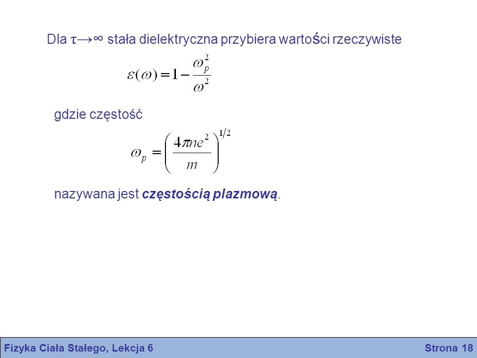 Fizyka Ciała Stałego, Lekcja 6 Strona 18