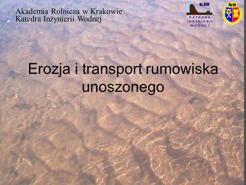 Erozja i transport rumowiska unoszonego