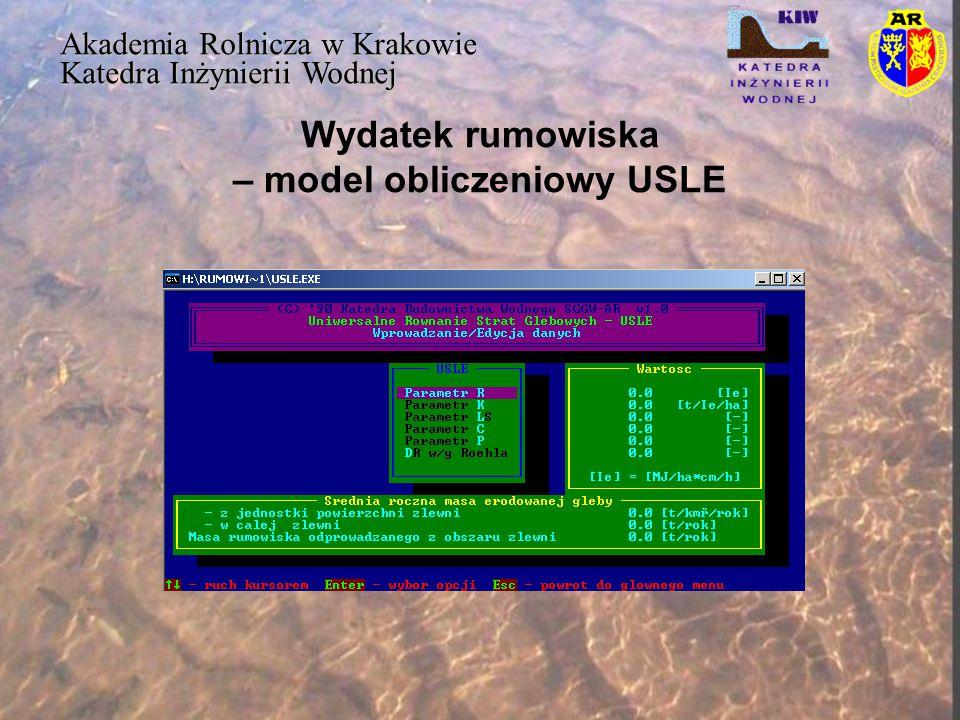 Wydatek rumowiska – model obliczeniowy USLE