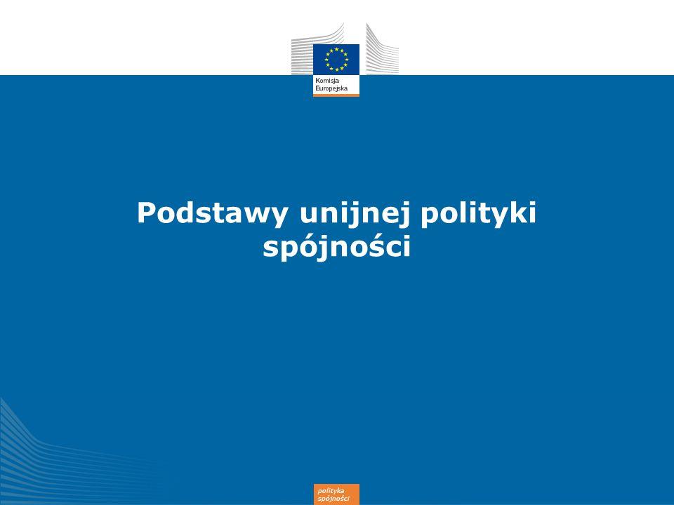 Podstawy unijnej polityki spójności