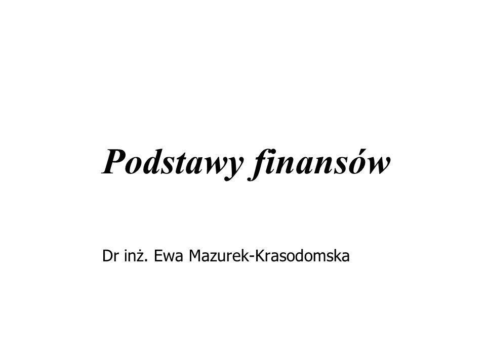 Dr inż. Ewa Mazurek-Krasodomska