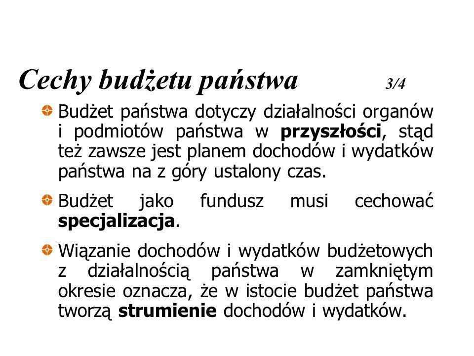 Cechy budżetu państwa 3/4
